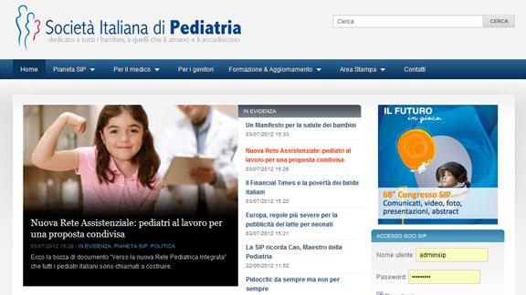 Home Page Società Italiana di Pediatria